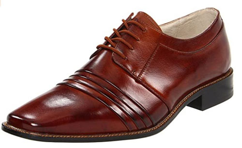 Raynor Oxford leather shoes by Stacy Adams in brown color